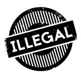 Illegal rubber stamp Stock Photography
