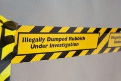 Illegal rubbish dumping Stock Photos
