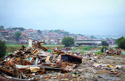 Illegal shacks ruins,Maksuda,Varna Royalty Free Stock Images