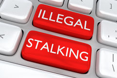 Illegal Stalking concept Royalty Free Stock Photos