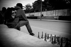 Illegal street vendor Royalty Free Stock Photo