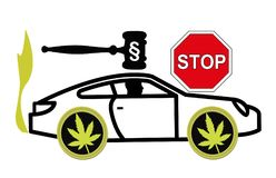 It is illegal to drive stoned. Driving high is considered a criminal offense and gets punished by law Stock Photography