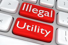 Illegal Utility concept Stock Photo