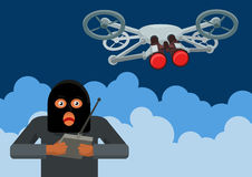 Illegale Überwachung quadrocopters Stockfoto