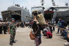 illegale Anwesenheit und es abweichende Ideologien in Indonesien Stockbilder