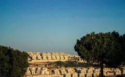 Illegale israelische Regelung in einer Westjordanlandnachbarschaft Stockfoto