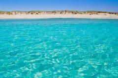 Illetas illetes turquoise beach shore Formentera royalty free stock images