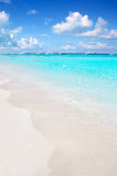 Illetes Formentera East beach tropical turquoise Royalty Free Stock Photos