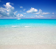 Illetes Formentera East beach tropical turquoise Royalty Free Stock Image