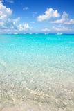 Illetes Formentera East beach tropical turquoise Stock Images