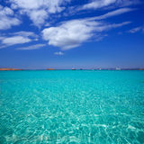 Illetes Illetas beach in Formentera Balearic Islands Stock Photography
