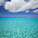 Illetes Illetas beach in Formentera Balearic Islands Stock Photos