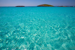 Illetes Illetas beach in Formentera Balearic Islands Royalty Free Stock Photos