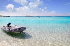 Illetes illetas formentera beach boats anchor stock photo