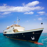 Illetes Illetas Formentera yacht anchored Royalty Free Stock Photography