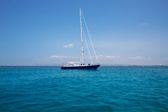 Illetes Illetas Formentera yacht sailboat anchored Stock Image