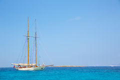 Illetes Illetas Formentera yacht sailboat anchored Royalty Free Stock Photography