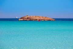 Illetes Illetas island in formentera beach at Balearic Royalty Free Stock Image