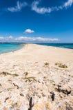 Illetes strand i den Formentera ön Royaltyfri Foto