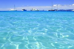Illetes turquoise beach blue water Formentera Stock Image