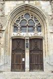 Illiers-Combray. (Eure-et-Loir, Centre, France) - Portal of ancient church Stock Photo