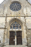 Illiers-Combray. (Eure-et-Loir, Centre, France) - Facade of ancient church Stock Photography