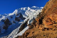 Illimani mountain. Bolivia summit outdoors nature peak climbing Royalty Free Stock Photos