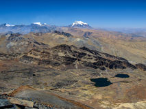 Illimani mountain Stock Photography