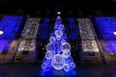 Illimunated圣诞树 免版税库存照片