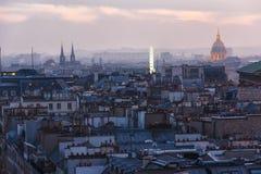 Paris Illimunated Les invalides monument Stock Photo