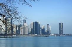 Illinois chicagowska Linia horyzontu Obrazy Royalty Free