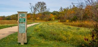 Illinois Cycleway in fall - Autumn Royalty Free Stock Photography