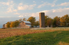 Illinois Farm. Small farm in midwest Illinois on a early fall evening after the corn has been harvested Stock Image