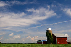 Illinois Farm. Weathered Illinois red farm house stock images