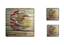 Illinois Flag Buttons Royalty Free Stock Photography