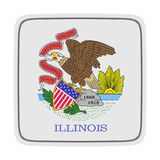 Illinois flag icon. 3d rendering of an Illinois State flag icon. Isolated on white background Royalty Free Stock Photos