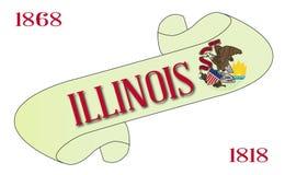 Illinois flaga ślimacznica ilustracji