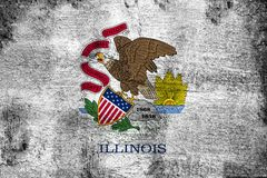 Illinois. Grunge and dirty flag illustration. Perfect for background or texture purposes vector illustration