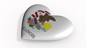 Illinois heart beats and casts a shadow, loop