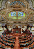 Illinois House of Representatives Chamber. Newly renovated House of Representatives chamber in the Illinois State Capitol building at 401 S 2nd Street in Stock Image