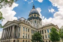 Illinois huvudstadbyggnad fotografering för bildbyråer