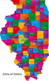 Illinois map Stock Images