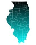 illinois mapa Obrazy Stock