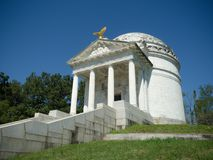 Illinois Memorial of Vicksburg Civil War. Civil War memorial monument statue of confederate and union soldiers and generals in Vicksburg, Mississippi in stock image