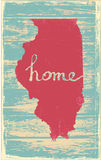 Illinois nostalgic rustic vintage state vector sign. Rustic vintage style U.S. state poster in layered easy-editable vector format Royalty Free Stock Photos
