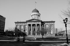Illinois Old State Capitol Building - Springfield, Illinois. Between 5th and 6th street. Abraham Lincoln Royalty Free Stock Image