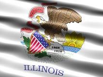 Illinois państwa bandery Fotografia Royalty Free