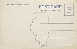 Illinois Postcard Royalty Free Stock Images