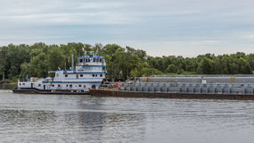 Illinois River Barge Royalty Free Stock Photography