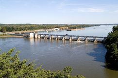 Illinois River Dam Stock Photography